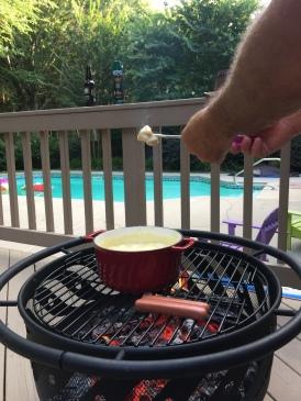 Backyard fondue